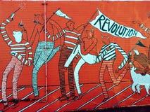 Pintura mural da revolução Imagem de Stock Royalty Free