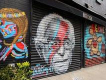 Pintura mural de Bernie Sanders Fotos de Stock Royalty Free