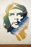 Pintura mural de Che Guevara, Havana, Cuba Fotografia de Stock