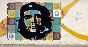 Pintura mural de Che Guevara no ½ n do ¿ de Malecï, Havana, Cuba Foto de Stock Royalty Free