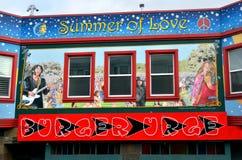 Pintura mural de Clayton Street em Haight-Ashbury San Francisco Foto de Stock Royalty Free