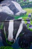 Pintura mural de Glasgow Residents do companheiro fotos de stock
