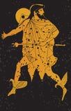 Pintura mural de Grecia, soldado griego. Imágenes de archivo libres de regalías