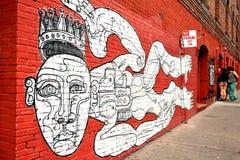 Pintura mural de la pared en San Francisco California Imágenes de archivo libres de regalías