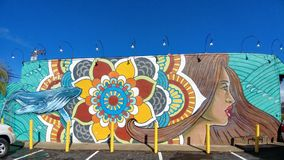Pintura mural de Mendala Fotografia de Stock Royalty Free