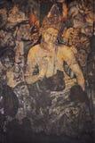 Pintura mural de Padmapani em Ajanta Fotos de Stock