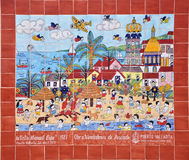 Pintura mural de Puerto Vallarta Fotografia de Stock