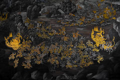 Pintura mural de Ramakien Fotografia de Stock