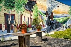 Pintura mural de Sainte-Adèle foto de stock royalty free