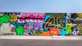 Pintura mural 45 de Tulsa foto de stock