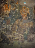 Pintura mural de Vajrapani em Ajanta (caverna 1) Foto de Stock