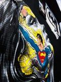 Pintura mural del carril del superhombre y de los lowes fotografía de archivo libre de regalías