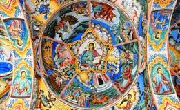 Pintura mural del virgo Maria fotos de archivo