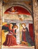 Pintura mural dentro do panteão Roma imagens de stock