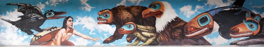 Pintura mural do Alasca imagem de stock royalty free