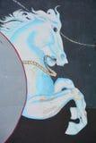 Pintura mural do cavalo Fotos de Stock Royalty Free