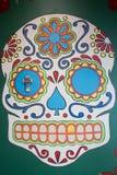 Pintura mural do crânio em St Thomas Imagens de Stock