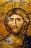 Pintura mural do mosaico de Christ em Hagia Sophia fotos de stock royalty free