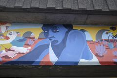 Pintura mural do ` s de Daniel McCarthy em Croydon Imagens de Stock Royalty Free