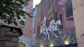 Pintura mural do transporte do cavalo filme