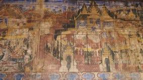 Pintura mural e decoração tailandesas Imagem de Stock Royalty Free
