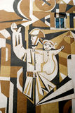 Pintura mural em baku azerbaijan Fotografia de Stock Royalty Free