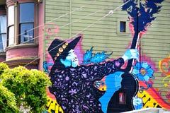 Pintura mural em Haight Hasbury em San Francisco fotos de stock