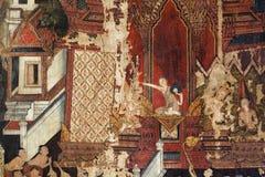 Pintura mural en las paredes Fotografía de archivo libre de regalías