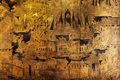 Pintura mural en las paredes Fotos de archivo libres de regalías