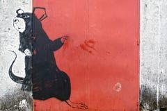 A pintura mural gigante do rato Fotografia de Stock Royalty Free