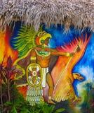 Pintura mural maia fotos de stock royalty free