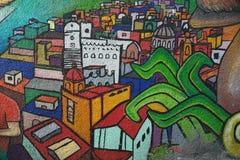 Pintura mural na cidade de Guanajuato, México imagem de stock royalty free