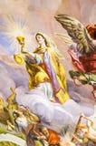 Pintura mural na parede em Karlskirche Fotografia de Stock