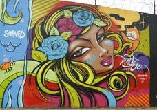 Pintura mural na seção de Astoria no Queens imagens de stock royalty free