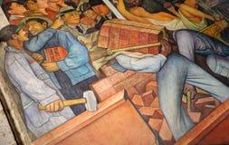 Pintura mural por Diego Rivera, México imagens de stock
