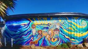 Pintura mural psicadélico Foto de Stock Royalty Free
