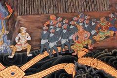 Pintura mural tailandesa. Fotografia de Stock Royalty Free