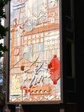 Pintura mural telhada em Burnley em Lancashire Inglaterra Imagens de Stock