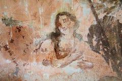 Pintura mural velha nas ruínas da igreja Fotografia de Stock Royalty Free