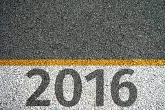 pintura 2016 na estrada asfaltada Fotos de Stock Royalty Free