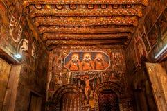 Pintura na igreja de Debre Birhan Selassie, Gondar Imagem de Stock