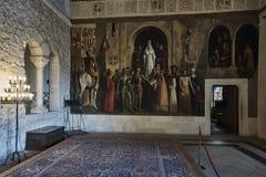 Pintura no castelo da parede fotografia de stock