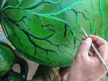 Pintura no modelo, pintura no scupture Foto de Stock Royalty Free