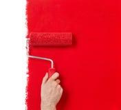 Pintura no vermelho Fotos de Stock
