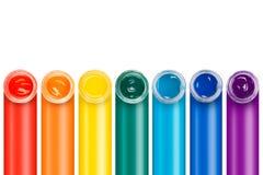 Pintura nos frascos de vidro Fotografia de Stock