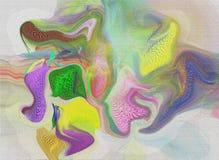 Pintura original de la acuarela del arte del fondo abstracto Foto de archivo