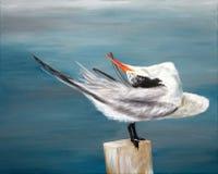 Pintura original de poca vuelta con cresta que se atusa, un arte del niño Imágenes de archivo libres de regalías