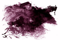Pintura púrpura manchada en blanco stock de ilustración