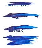 Pintura para dibujar punto smear Aislado en el fondo blanco Para su diseño brillante imagenes de archivo