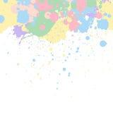 A pintura pastel espirra ilustração stock